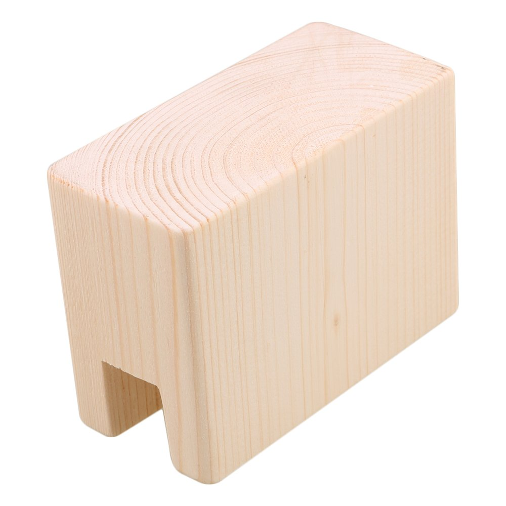 BQLZR 10x5x7.5cm Wood Table Desk Bed Risers Lift Furniture Lifter Storage for 2CM Groove Feet Up to 5CM Lift Pack of 2 by BQLZR (Image #4)