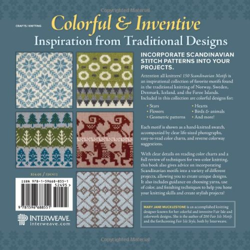 150 Scandinavian Motifs The Knitters Directory Mary Jane