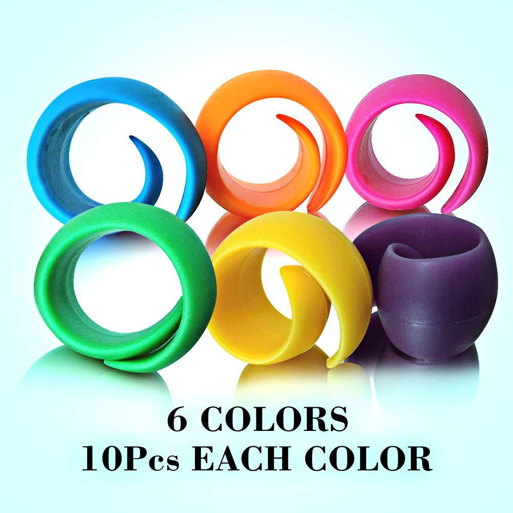60Pcs Thread Spool Huggers Prevent Thread Unwinding No Loose Ends or Thread Tails As Sewing Supplies and Accessories