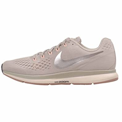 finest selection 8a0dc 18b3e Amazon.com   NIKE Womens Air Zoom Pegasus 34 Running Trainers 880560  Sneakers Shoes (UK 4.5 US 7 EU 38, Light Bone Chrome Grey 004)   Road  Running