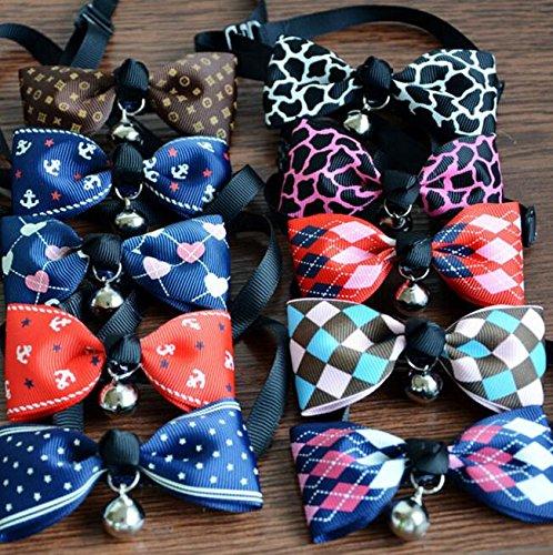 Usport 1 Pc Colliers Cloche Cravate Bowknot Mignon Pour Chien Robe Chiot (léopard Rose)