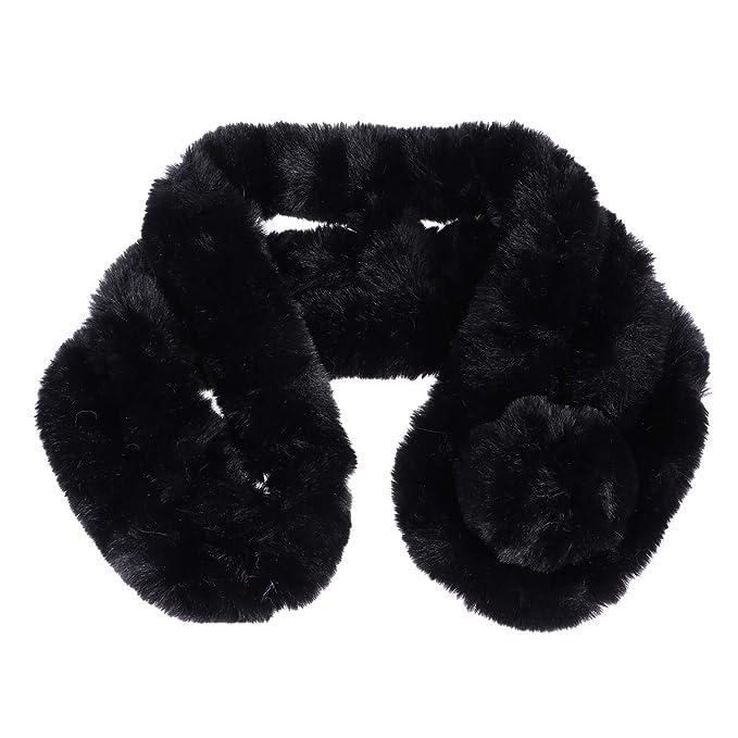 BESTOYARD Collare sciarpa in Pelliccia artificiale caldo scaldacollo per  Inverno Abbigliamento per donna ragazze nero  Amazon.it  Abbigliamento e04e9784401