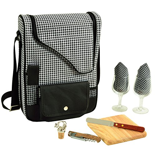 Picnic at Ascot - Wine Carrier Deluxe with Glass Wine Glasse