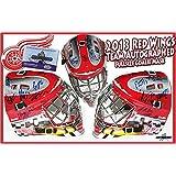 2013 DETROIT RED WINGS Team Signed FULL SIZE GOALIE MASK - ZETTERBERG - Autographed NHL Helmets and Masks