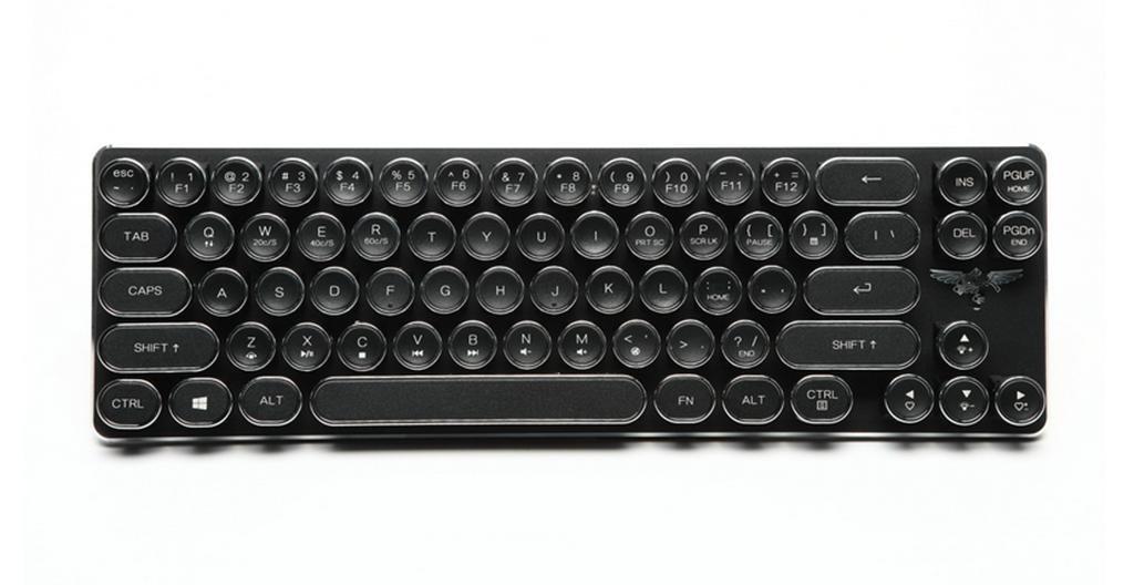 DZW Teclado Retro Typewriter Steampunk Torre Cap-clés 68 Llave mecánica Teclado para Mac y Windows Negro y Rosa Rosa Rosa: Amazon.es: Informática