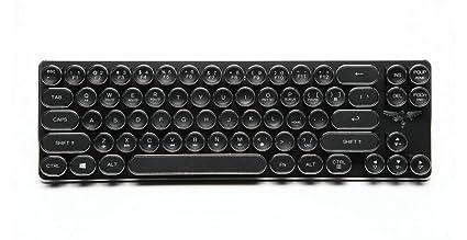 DZW Teclado Retro Typewriter Steampunk Torre Cap-clés 68 Llave mecánica Teclado para Mac y