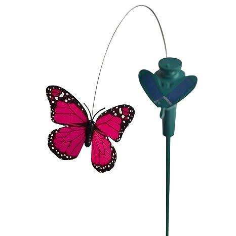 TIED RIBBONS Solar Powered Flying Fluttering Butterfly for Garden Decor