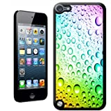 Fancy A Snuggle 'Rainbow Multi Colour Water Droplets' Hard Case Back Cover for Apple iPod Touch 5th Generation