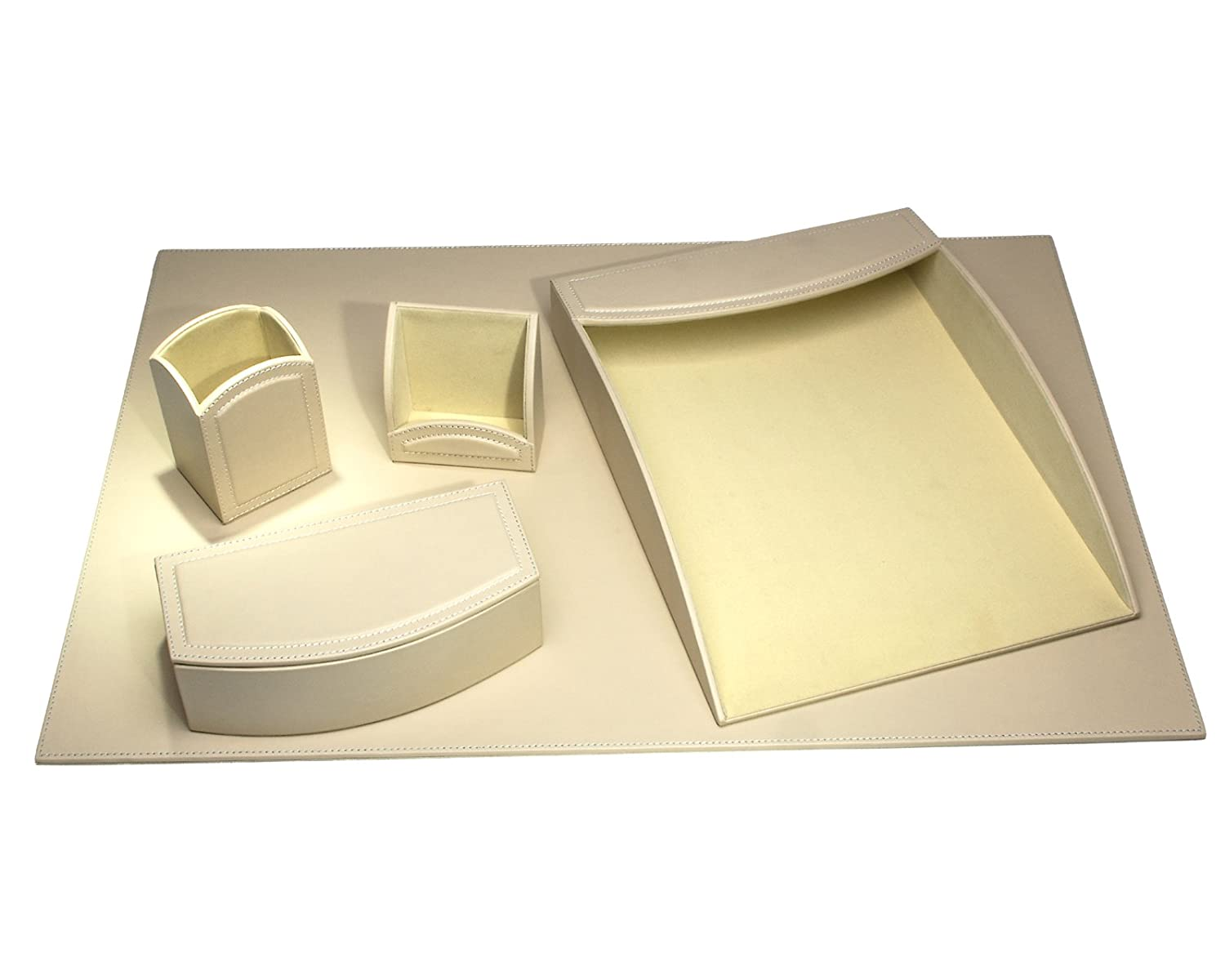 Dacasso Office Organizing Desk Set, Sandy Tan, Pezzi D6065