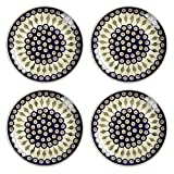 Product review for Polish Pottery Peacock Feathers Handmade Dinner Plates, 10.5-Inch, Set of 4