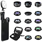 Godefa Phone Camera Lens Kit, 14 in 1 Lenses with Selfie Ring Light for iPhone Xs, Xr,8 7 6s Plus, Samsung and other…