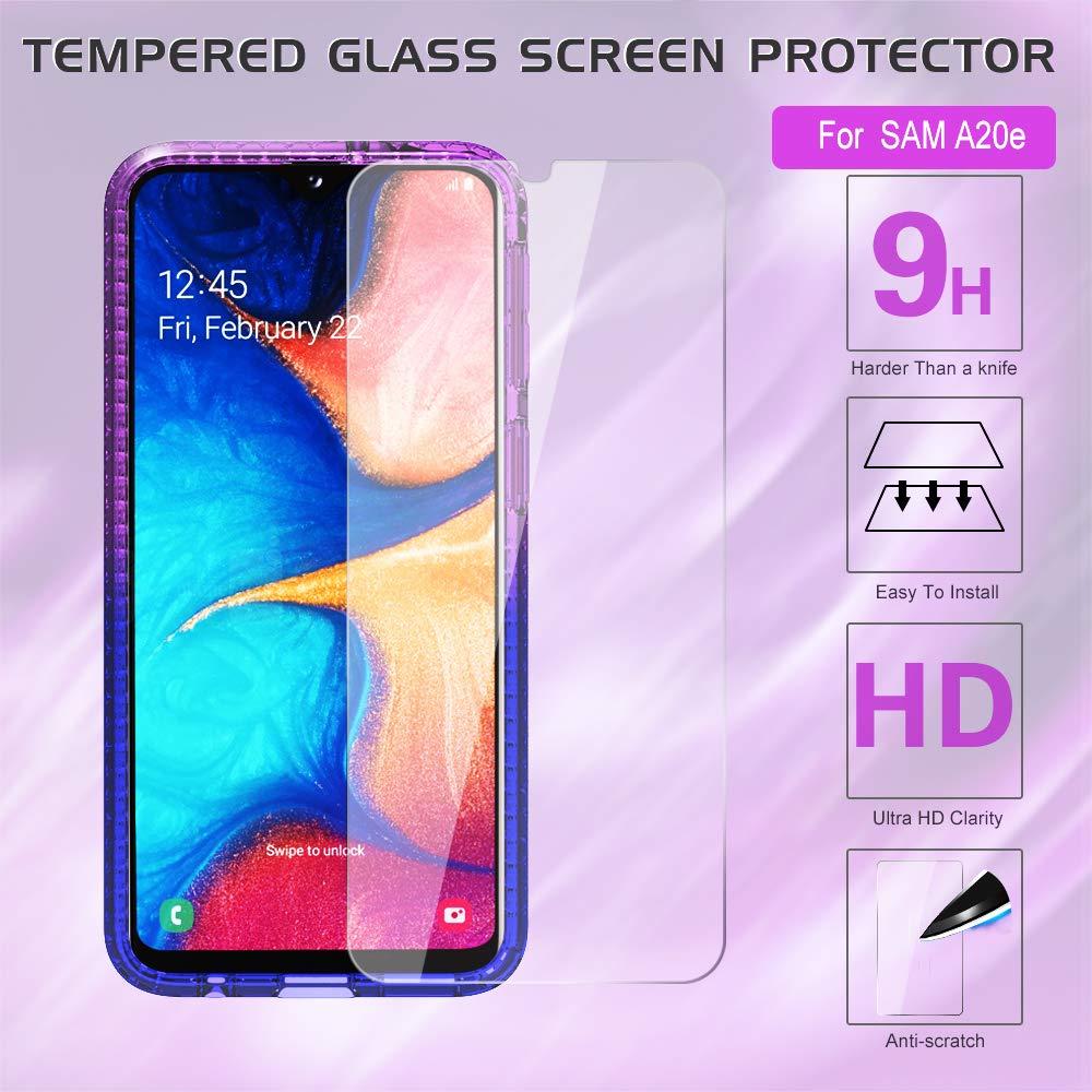 LeYi H/ülle Galaxy A20e Glitzer Handyh/ülle mit HD Folie Schutzfolie,Cover TPU Bumper Silikon Clear Schutzh/ülle f/ür Case Samsung Galaxy A20e Handy H/üllen ZX Turquoise