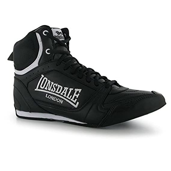 UK Shoes - Lonsdale Mens Boxing Boots Training Lace Up Sport Shoes Trainers Footwear