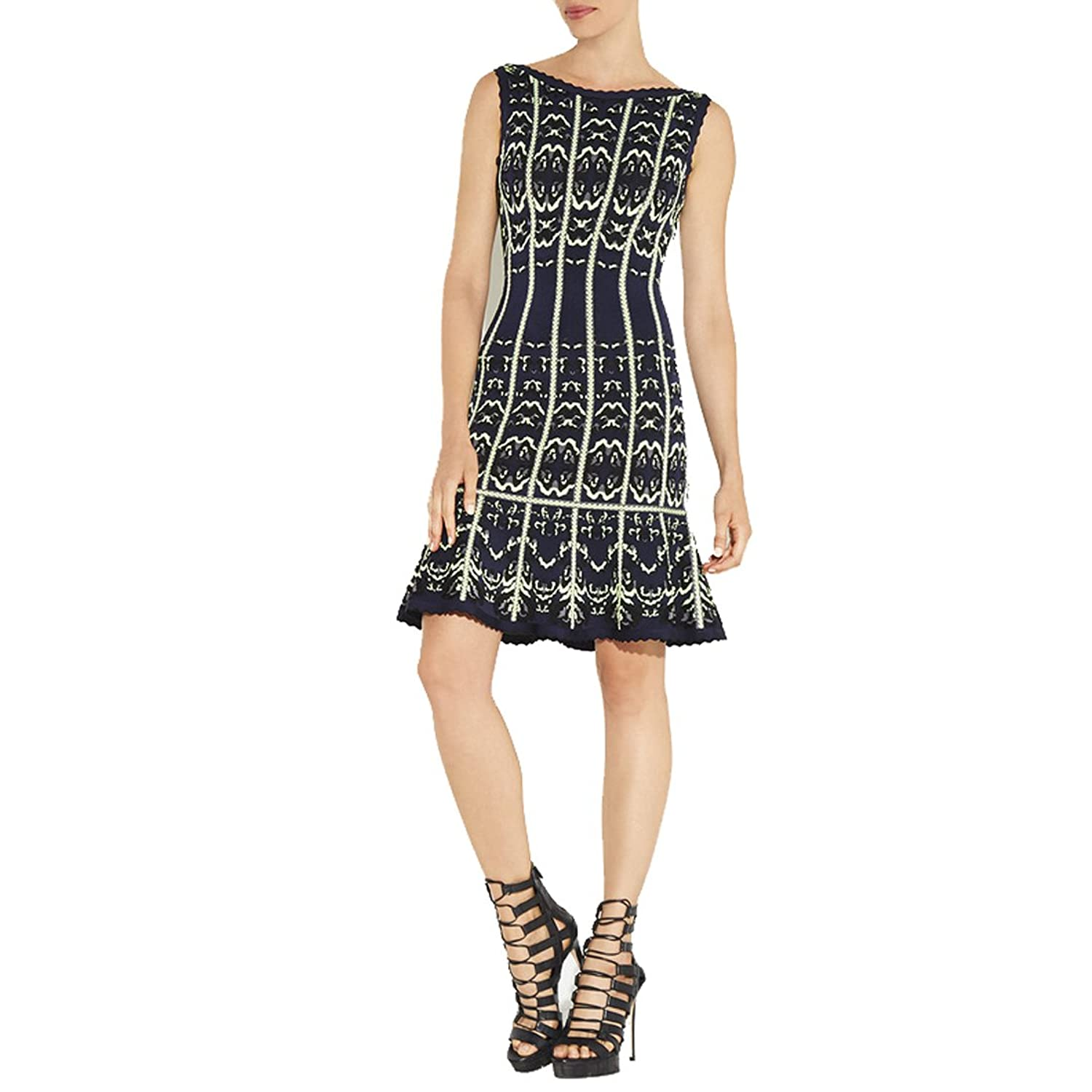 Hlbcbg Rayon Women's Bandage Bodycon Dress Cocktail Party Dress 2395