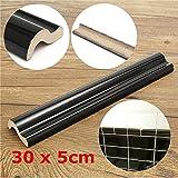 New 30x5cm Black Dado Border Tile Moulding Decoration Wall Side