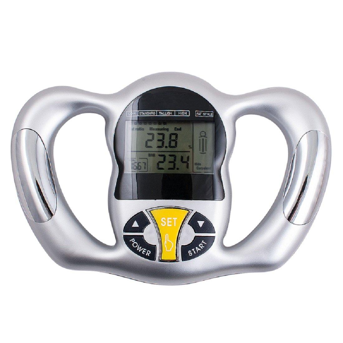 Jinon Portable Hand held Body Mass Index BMI Health Fat Analyzer Health Monitor Body Tape Silver