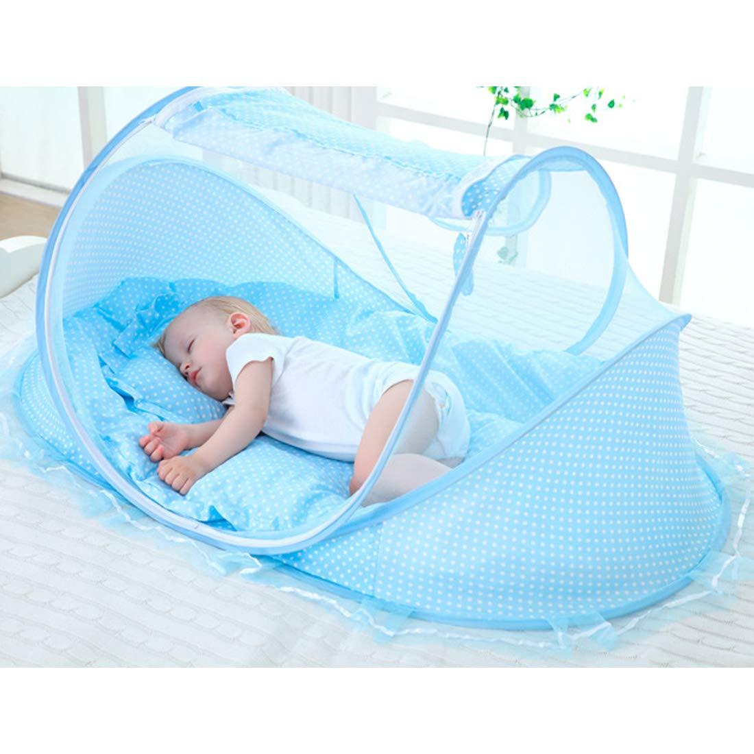 cuscino e pacchetto musicale ZUJI ZUJI Lettino da Viaggio per Bambini Pieghevole Lettino Infantile con materasso