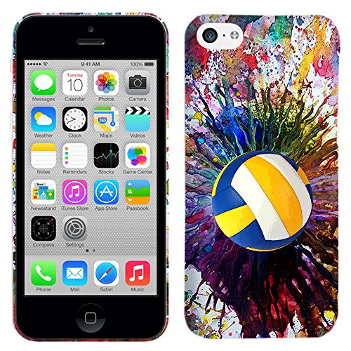 iPhone 5C Case - Vintage Color Volleyball Hard Plastic Back Cover. Slim Profile Cute Printed Designer Snap on Case by Glisten