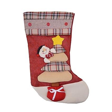 La Haute de Navidad calcetín de calcetines para colgar bolsas de dulces regalos de Navidad ornamento