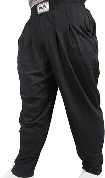 Muscle Alive Hommes de Fitness Culturisme Pantalons Mens Gym Bodybuilding Baggy Pants Coton et Spandex