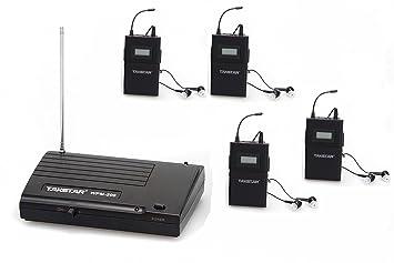 Okymrfed5 Takstar WPM-200 UHF Wireless Monitor sistema in-ear estéreo inalámbrico auriculares transmisor receptor Set (1 emisor + 4 receptor): Amazon.es: ...