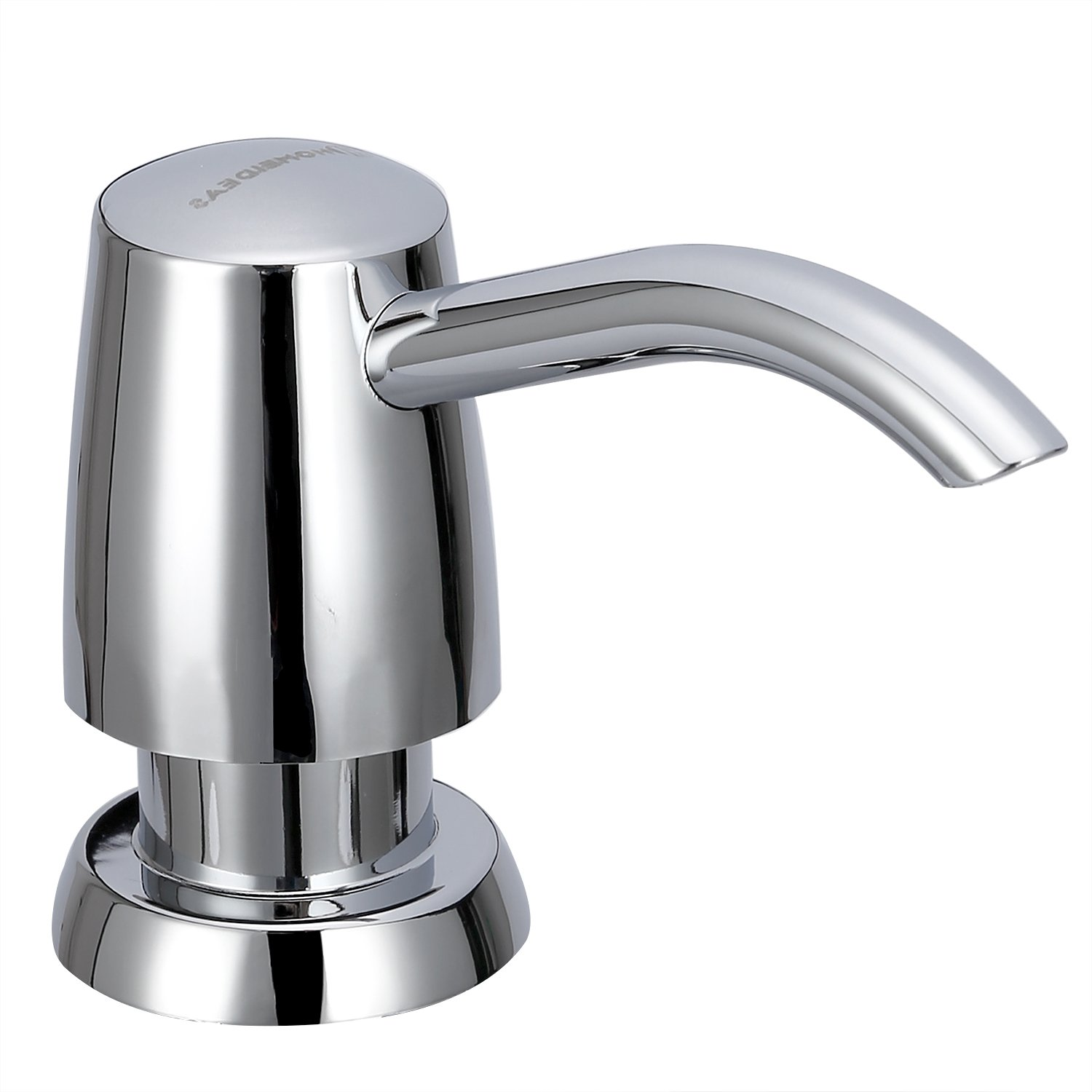 HOMEIDEAS Kitchen Sink Soap Dispenser ABS Plastic Pump with 11oz Clear Sturdy Bottle, ABS Chrome Finished by HOMEIDEAS