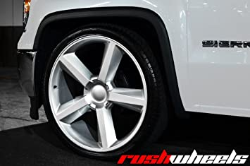 Amazon Com 22 Inch Ltz Tahoe Like Silver Wheels Tire Package