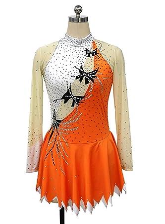 Vestido de patinaje artístico para niñas y mujeres, traje de ...