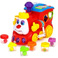 Kiditos Smart Q & A Cartoon Train On Wheels Electric Toy with Light & Music Learning Educational Toy