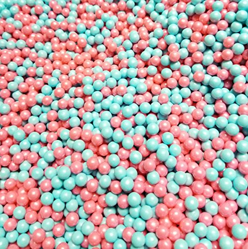Gender Reveal Pearl Beads Pink And Blue Hard Candy 2 Pounds (Pink And Blue M&ms)