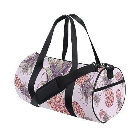 178b435c97d7 Amazon.com : OuLian Gym Bag Summer Pineapple Women Canvas Duffel Bag ...