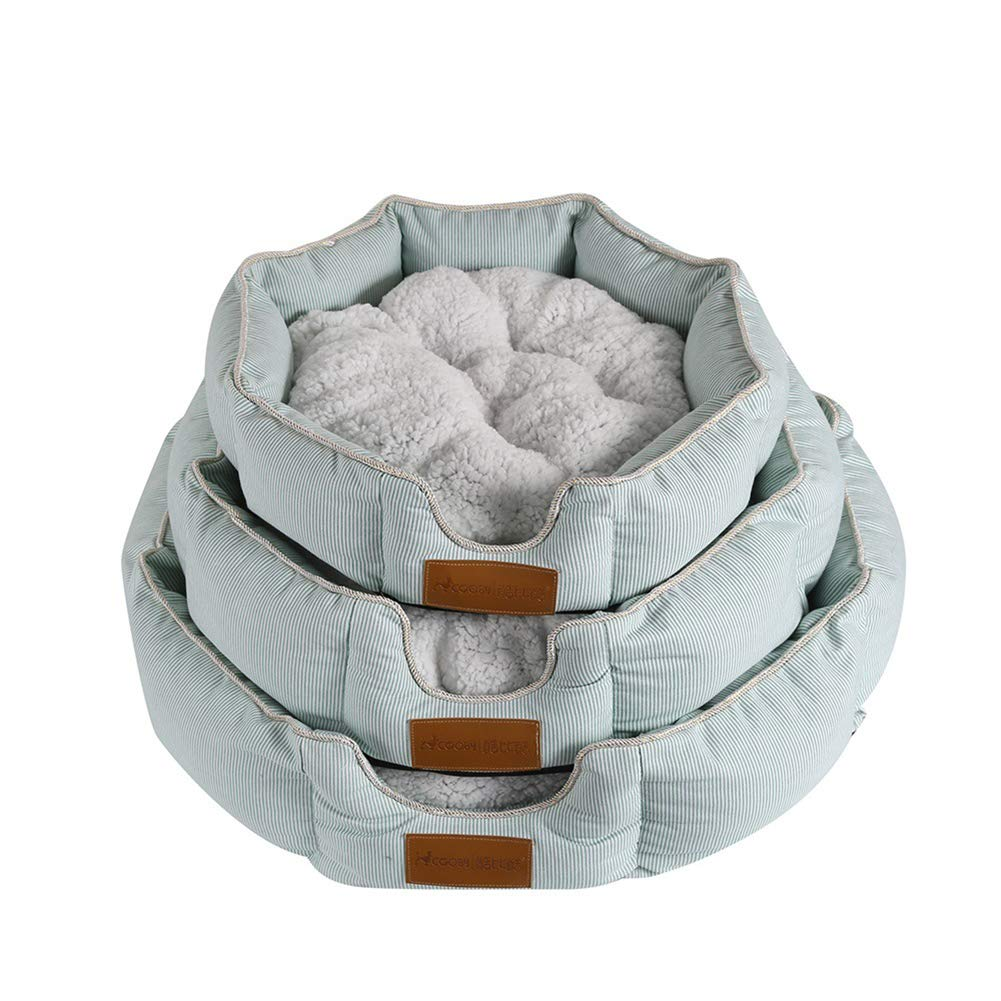 Medium Dog Pet Cat Bed Crystal Short Plush PP Cotton Padding can be Washed Repeatedly