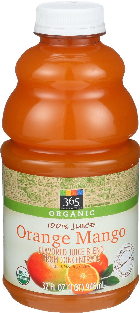 Amazon.com : 365 Everyday Value, Organic 100% Juice, Orange Mango, 32 fl oz : Grocery & Gourmet Food