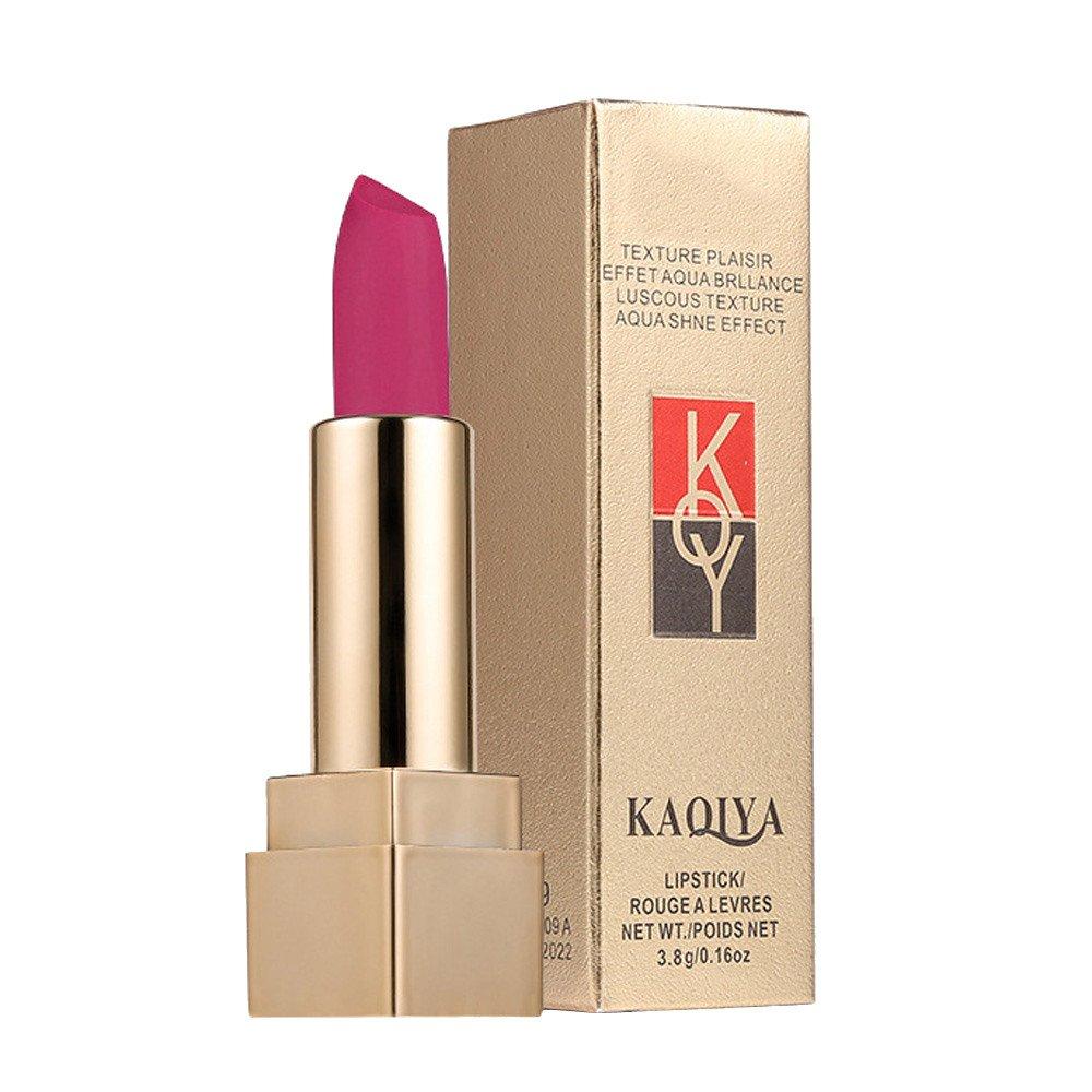 Huihong KAQIYA 12 Schattierungen Matte Lippen Dessous Glatte Lippenstift EnthäLt Vitamin A & E Mit Box (Sexy-K) Huihong Beauty