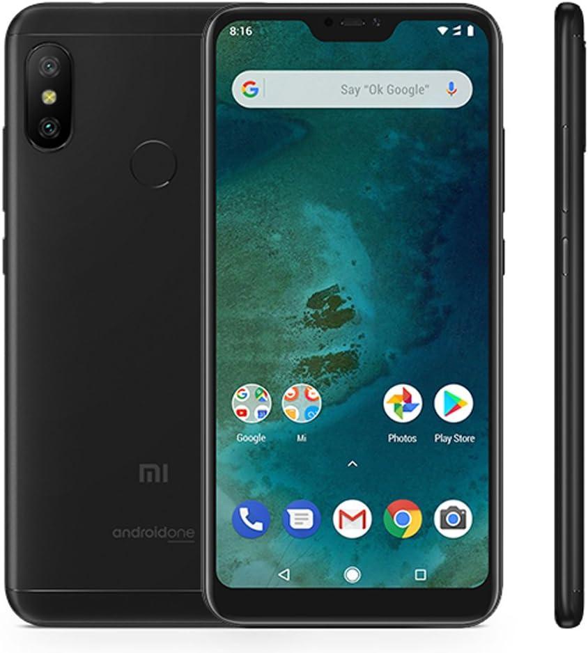 """Smartphones Xiaomi Mi A2 Lite Pantalla Full HD de 5.84"""",4GB RAM+64GB ROM Snapdragon 625 Octa Core, Tarjetas SIM Dual+tarjeta MicroSD,Cámaras Frontales 5MP y 12MP+5MP Teléfonos Móviles Negros Negro: Amazon.es: Electrónica"""