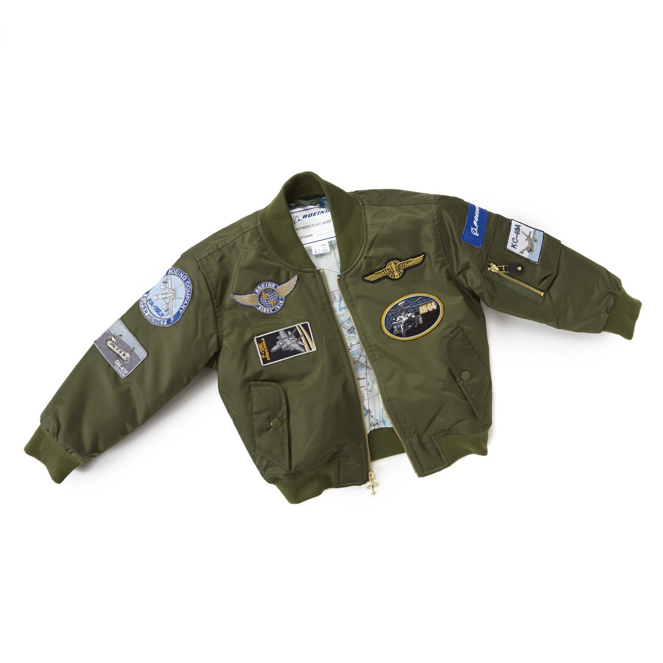 Boeing - Green Nylon Flight Jacket - Youth