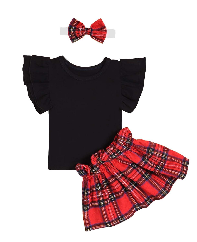 【半額】 Storeholic B07KW1674W DRESS ベビーガールズ 2T ブラック/ 3T 2T レッド + ブラック B07KW1674W, Scroll Beauty:89e7600d --- tadkarecipes.com