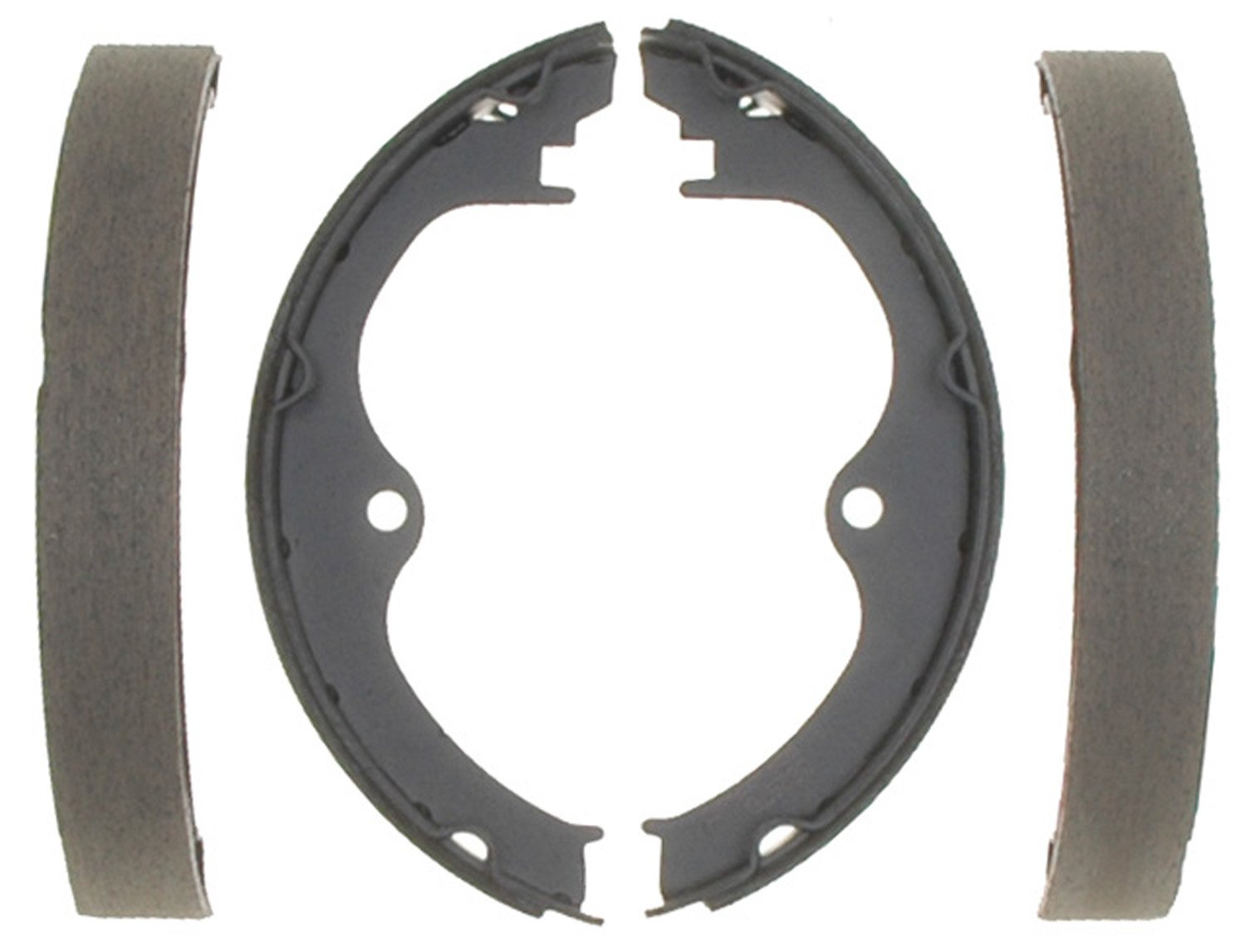 ACDelco 17556B Professional Bonded Rear Drum In-Hat Parking Brake Shoe Set