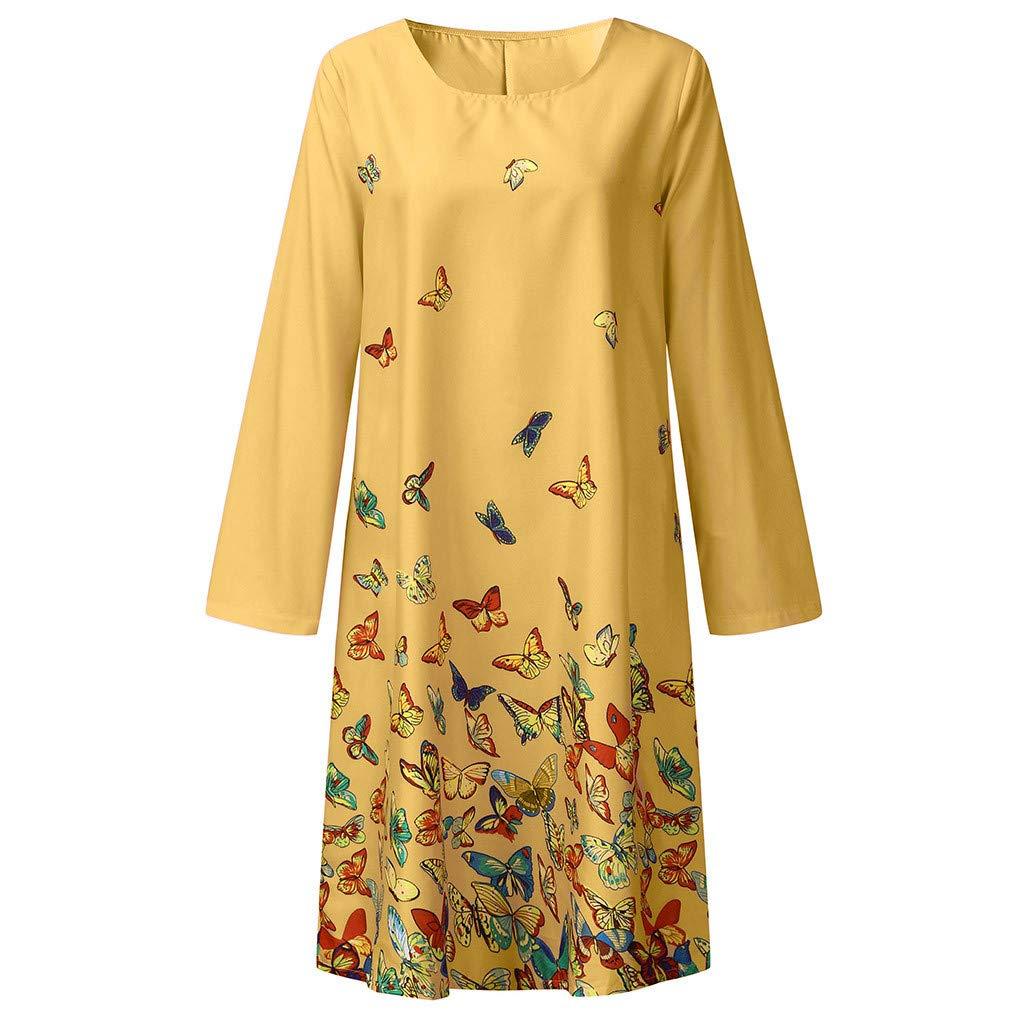 ★ZFK/_DRESS Womens Plus Size Summer Holiday Style Cute Print 3//4 Sleeve Scuba Crepe Casual Dress