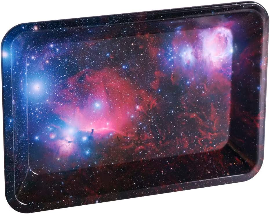 Galaxy Metal Rolling Superior Tray latest for Rollin and Tobacco Weed Cigarette