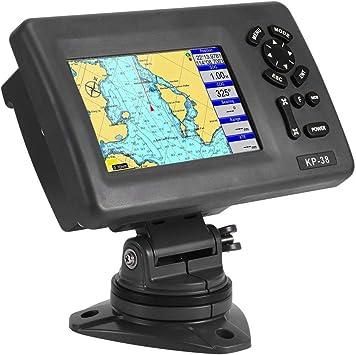 Yctze Marine GPS, Plotter con pantalla LCD LCD Navigator GPS para barcos de 5 pulgadas con transpondedor AIS de clase B Accesorio de barco: Amazon.es: Coche y moto