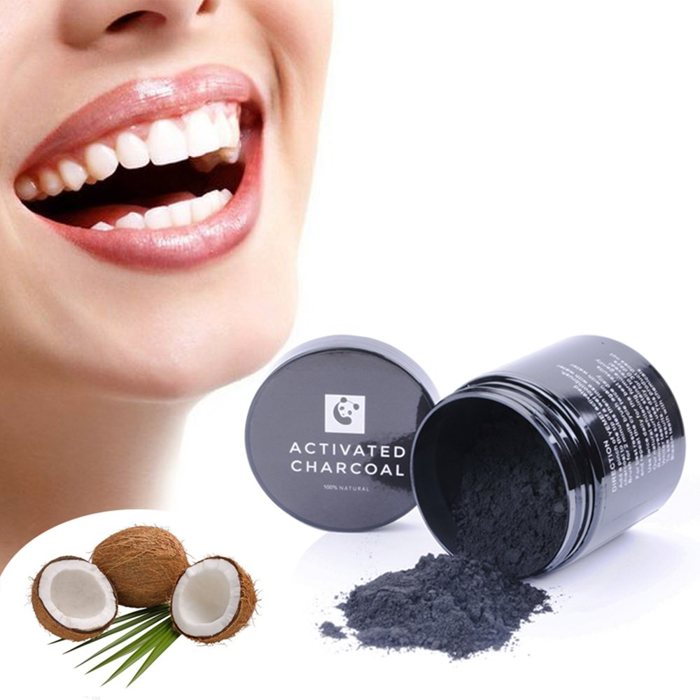 Amazon.com : Teeth Whitening Powder Shang Yi Natural Activated Coconut Charcoal Tooth Whitener for Sensitive Teeth and Gums Remove Tea Coffee Smoke Stain ...