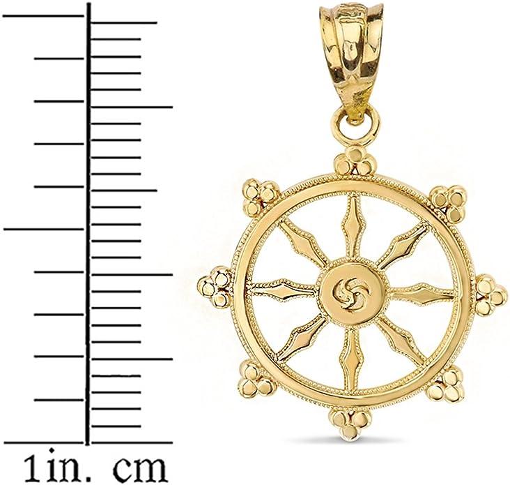 meditation necklace Buddhist Dharma Wheel Necklace Buddhism necklace Mandala necklace