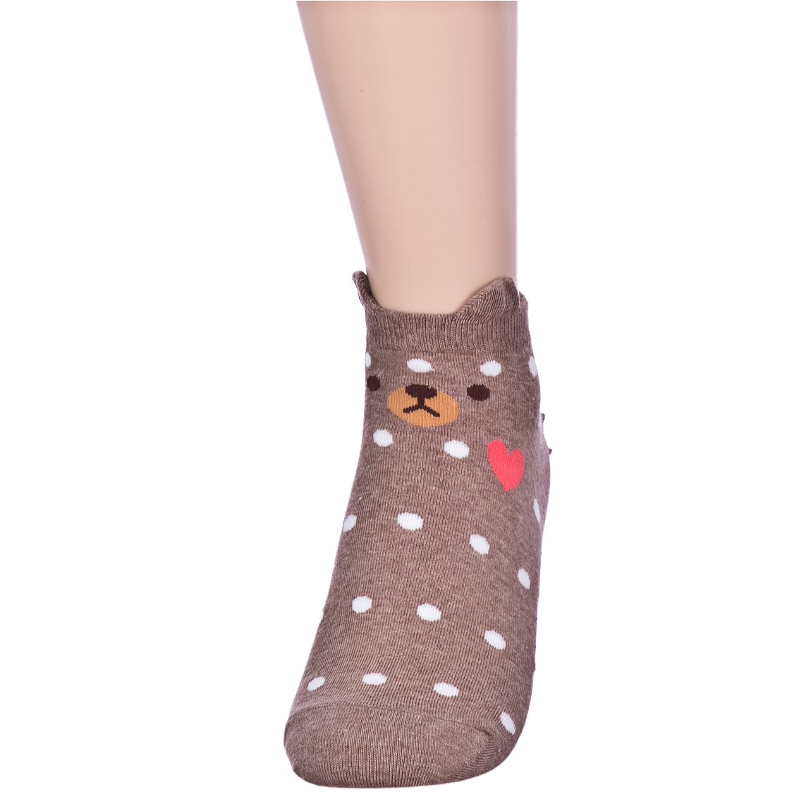 Fall in Love Animal Charater Casual Sneakers Socks (Onesize, 5 Pairs) by Dani's Choice (Image #5)