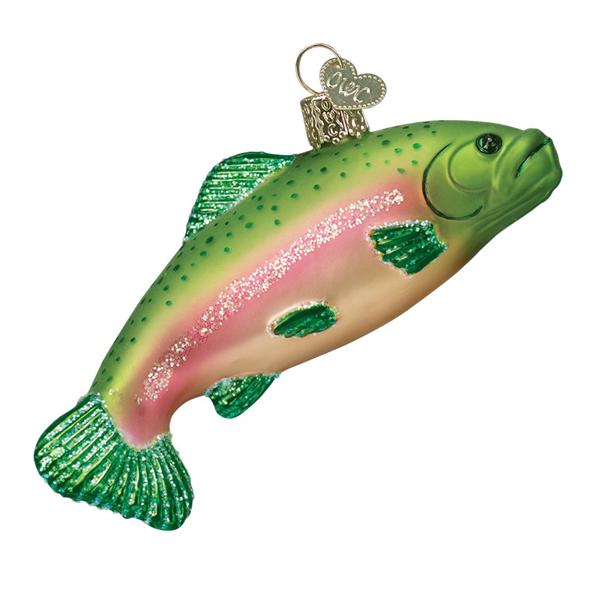 Old World Christmas Ornaments: Rainbow Trout Glass Blown Ornaments for Christmas Tree