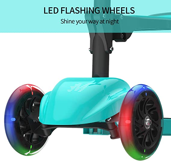 MACWHEEL Kick Scooter, 2-in-1 Kick Scooter with Folding/Removable Seat, Three-Wheeled Scooters Kick Scooter for Kids Ages 2-5