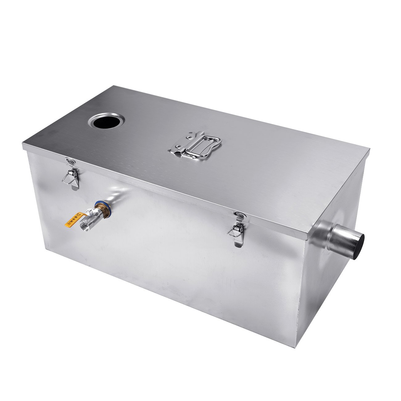 BEAMNOVA Commercial 25LB Grease Trap for Restaurants 13GPM Gallons Per Minute Stainless Steel kitchen Interceptor
