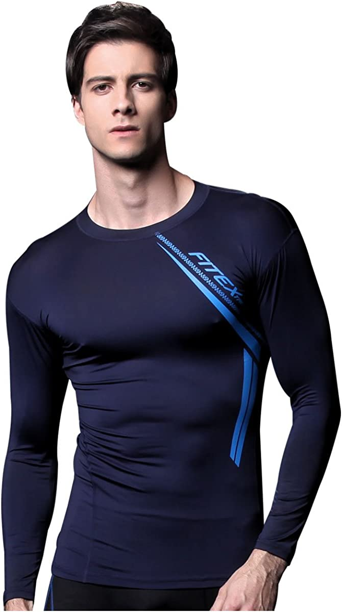 FX Mens Cool Sports Running Compression Athletic Top Underlayer