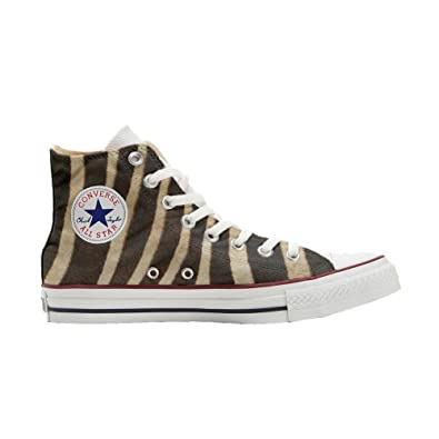073e9db0da Converse All Star shoes customized (handicraft product) Zebrate - TG34:  Amazon.co.uk: Shoes & Bags