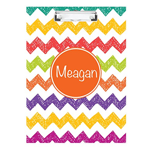 Sketched Chevron Monogrammed Double Sided Hardboard Clipboard Monogrammed Clipboard